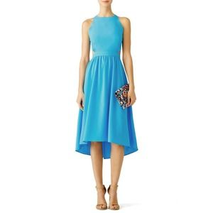 Karen Zambos Blue Tara Dress 4 Sleeveless Cutout